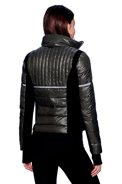 Blanc Noir Reflective Inset Featherweight Jacket - Sculptique