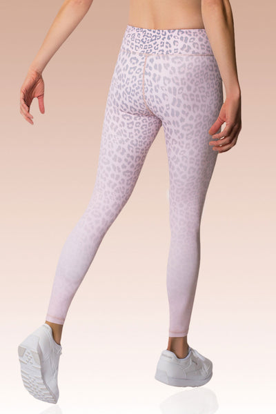 Vie Active Rockell 7/8 Length Legging - Blush Leopard - Sculptique