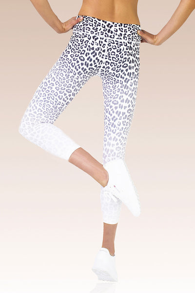 Vie Active Rockell 7/8 Length Legging - White Leopard - Sculptique