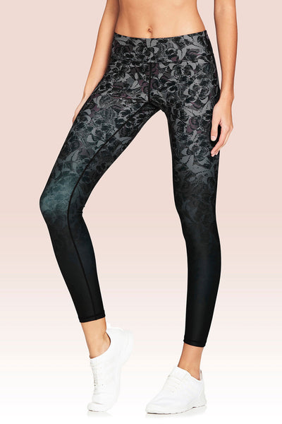 Rockell Full Length Legging - Monochrome Butterfly