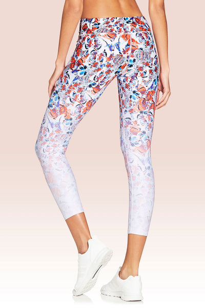 Vie Active Rockell 7/8 Length Legging - Chrysalis Butterfly - Sculptique