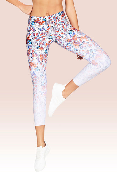 Rockell 7/8 Length Legging - Chrysalis Butterfly