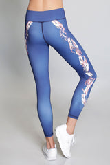 Vie Active Rockell Full Length Legging - Sapphire Vine - Sculptique
