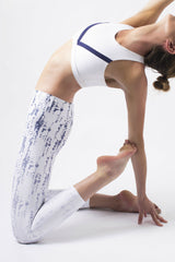 Vie Active Rockell 7/8 Length Legging - White Mist Ombre - Sculptique