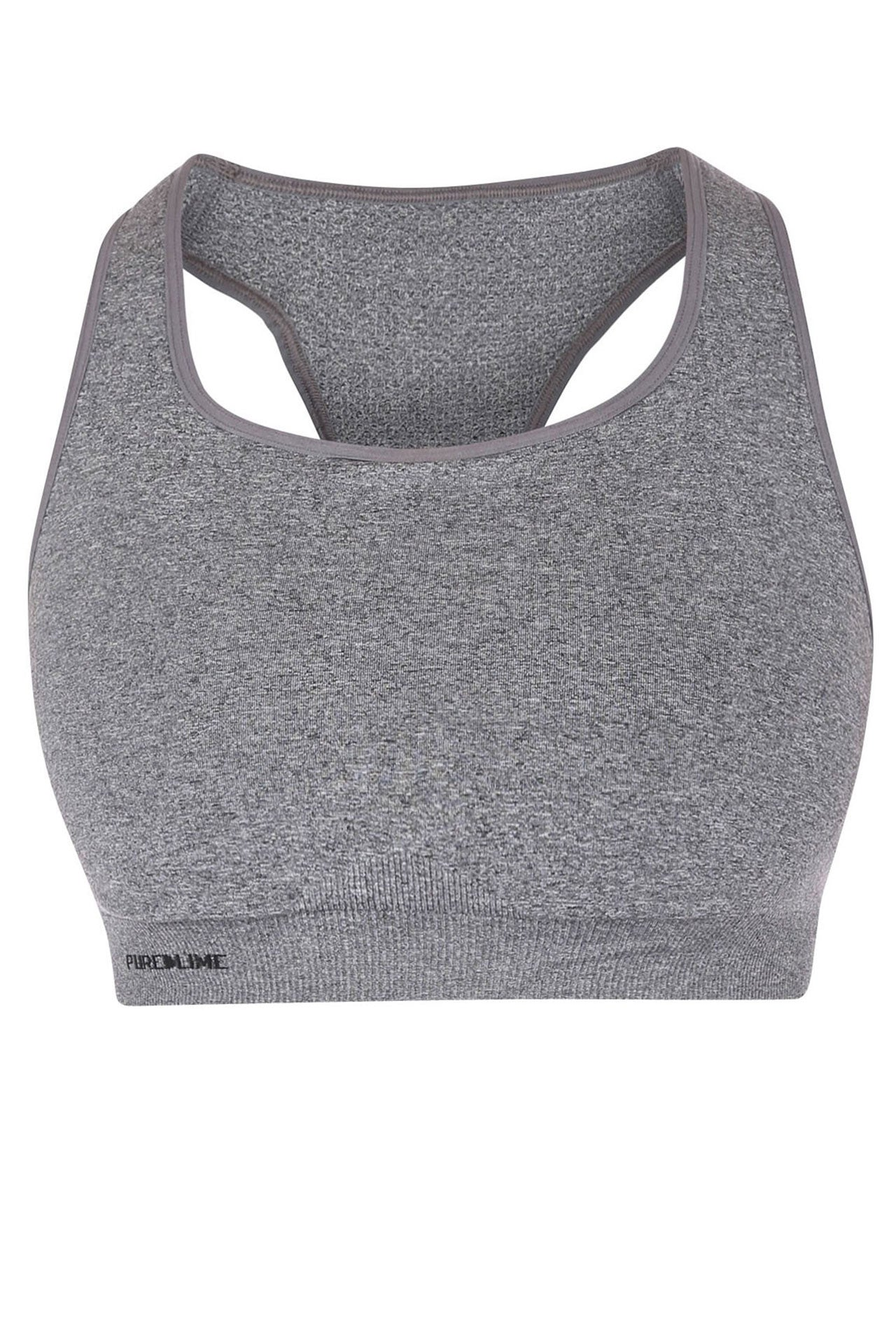 Pure Lime Seamless Bra - Charcoal - Sculptique