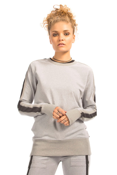 Blanc Noir Social Sweatshirt - Sculptique