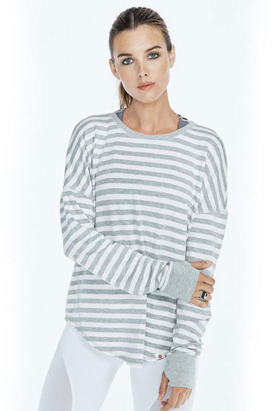 Soothe Pullover - Heather Grey/White
