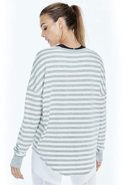 Vimmia Soothe Pullover - Heather Grey/White - Sculptique