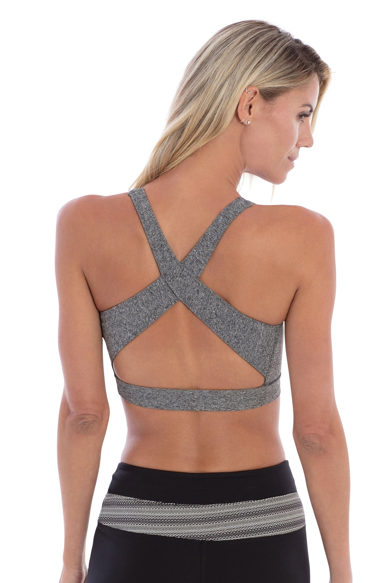 Track & Bliss Star Crossed Studded Bra - Grey - Sculptique
