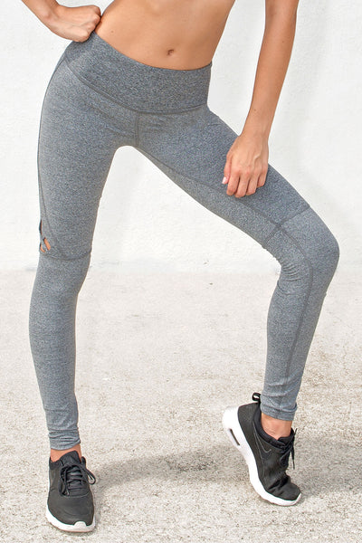 Track & Bliss Star Cutout Legging - Grey - Sculptique