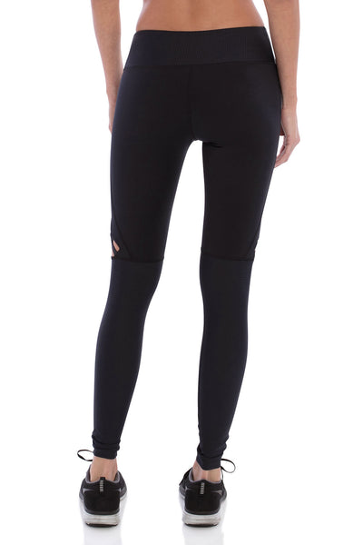 Track & Bliss Star Cutout Legging - Black - Sculptique