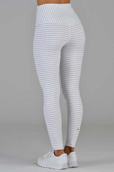 Sultry Legging - White/Copper Shimmer