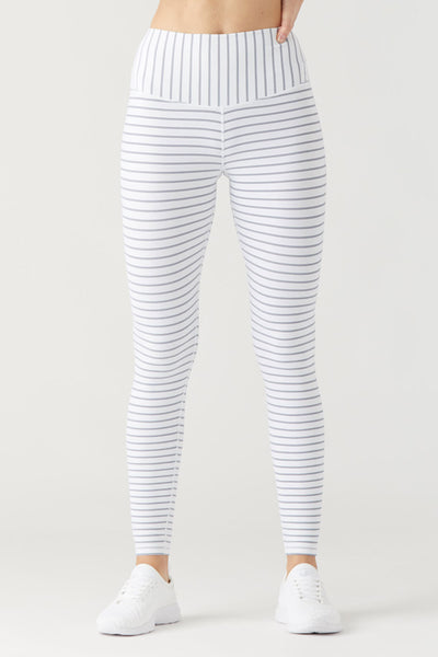 Sultry Legging - White/Mist Stripe