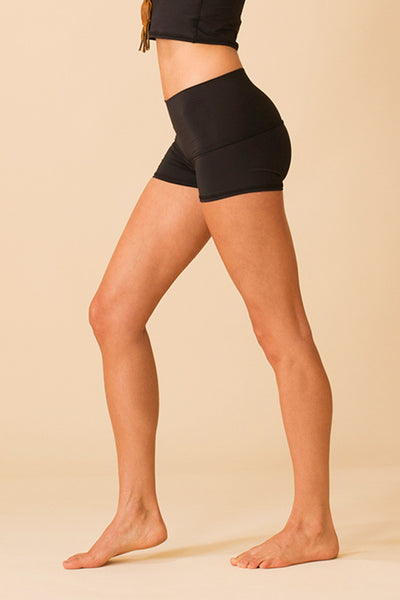 Teeki Solid Black Sun Short - Sculptique