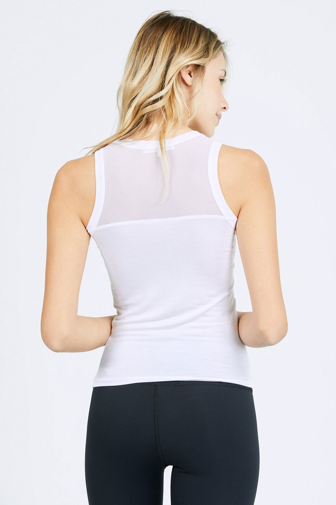 The Body Tank - White w/ Mesh