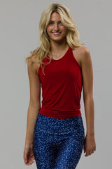 Tie Back Tank - Red