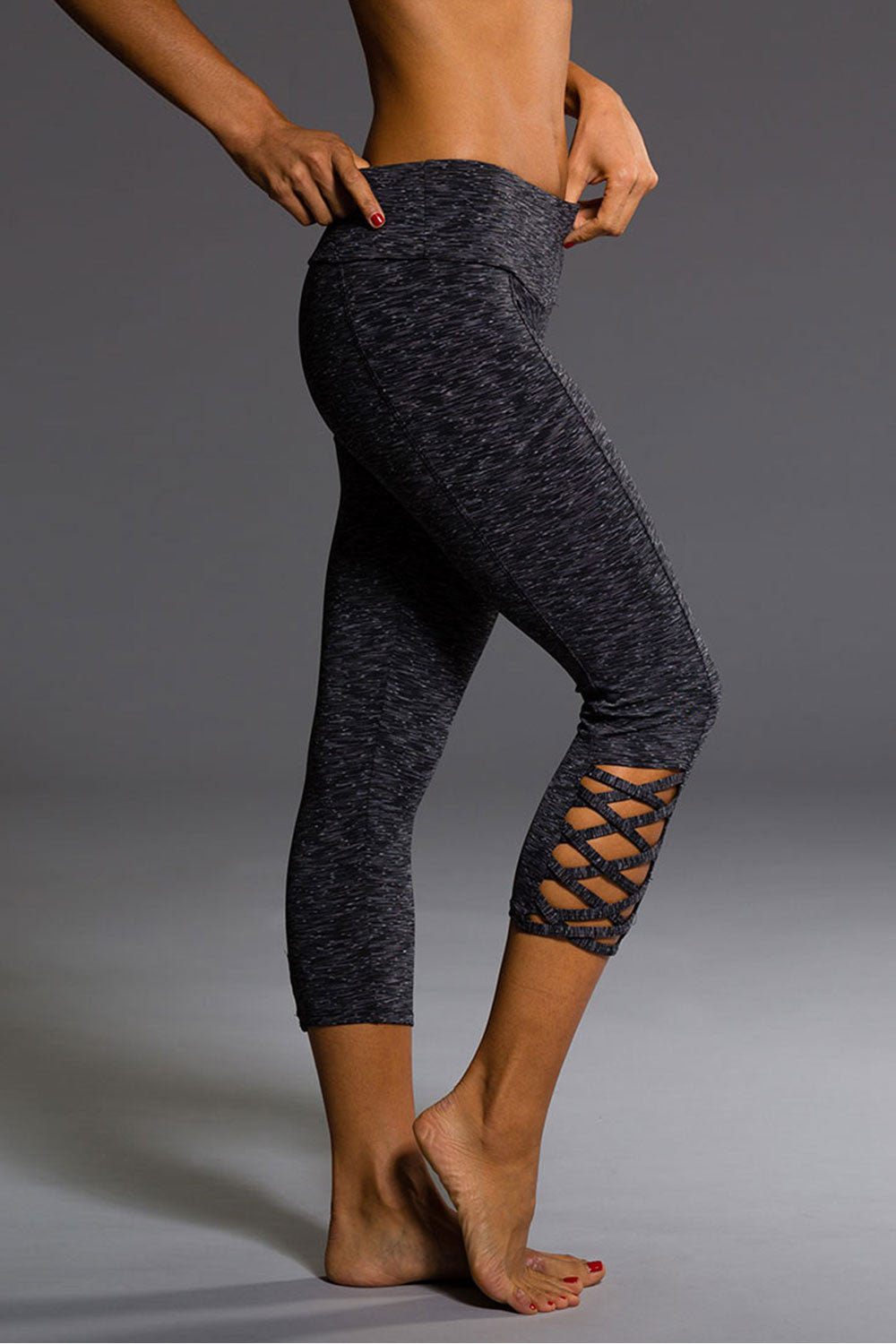 Onzie Weave Capri - Heather Grey - Sculptique