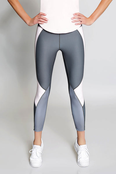 Vie Active Whitney 7/8 Legging - Charcoal with Blush - Sculptique