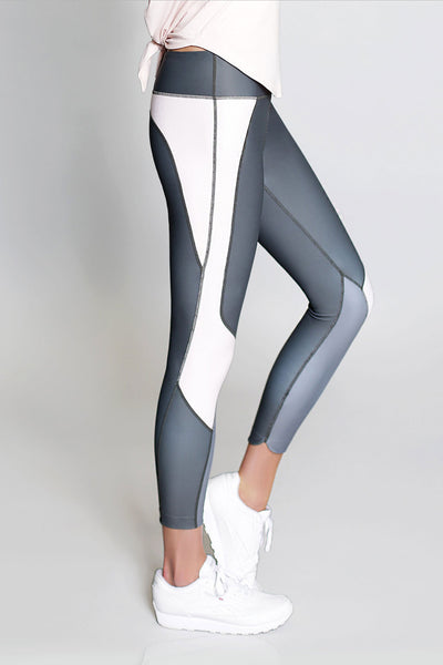 Whitney 7/8 Legging - Charcoal with Blush