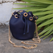 Crossbody Bucket Bag- Blue