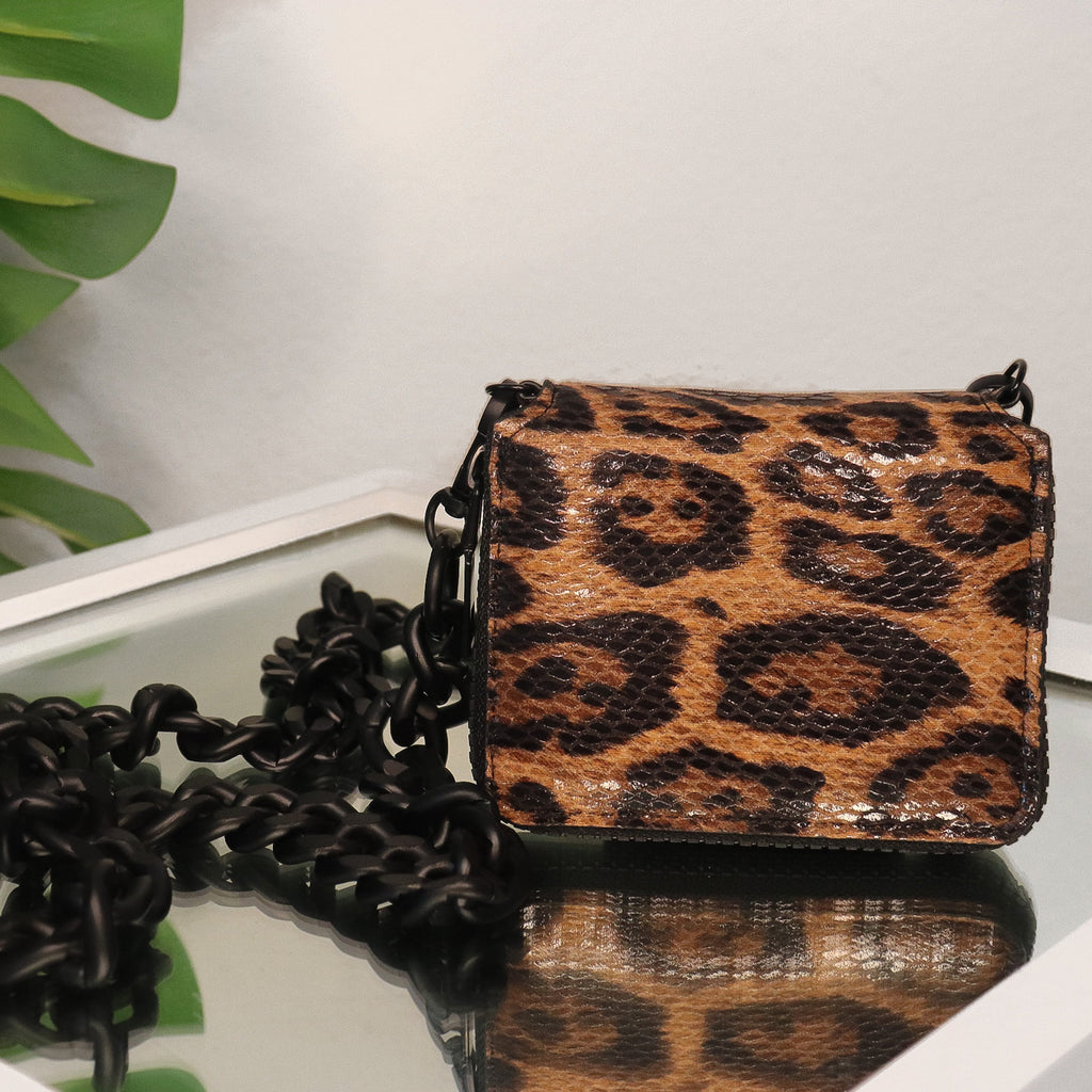 Mini Leopard Chain Bag