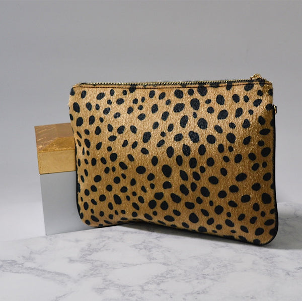 Joan Leopard Clutch