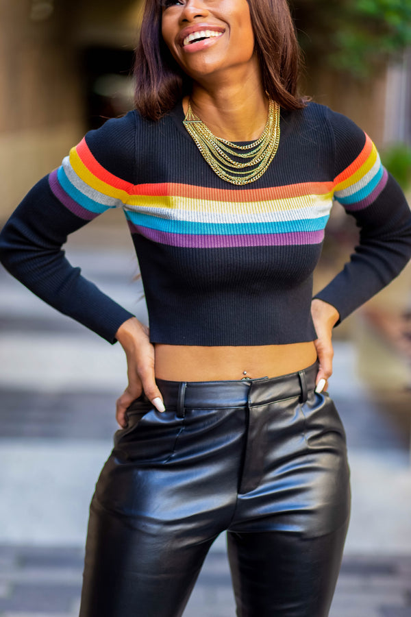 MULTI COLOR CROP TOP