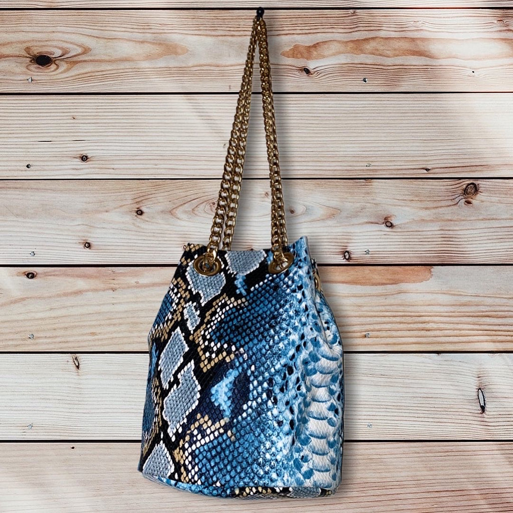 Faux Snake Chain Bag