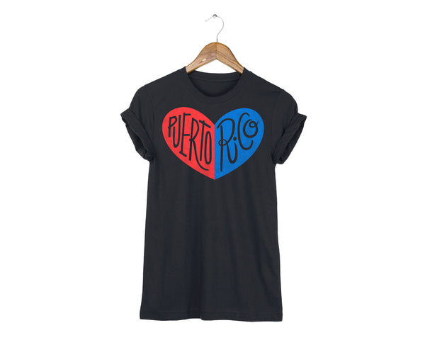 Puerto Rico Heart T-shirt by two string jane