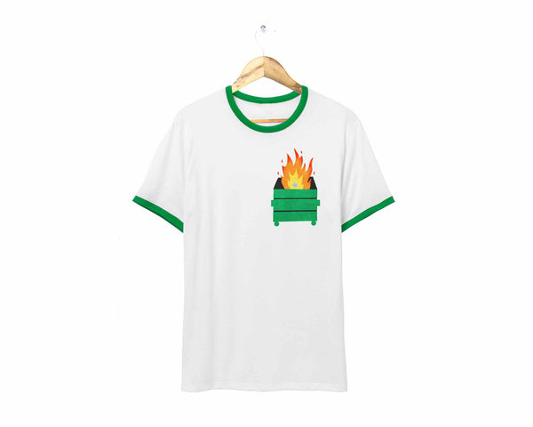 Dumpster Fire Ringer Tee by two string jane