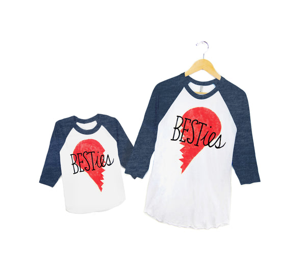 Besties Raglan Tees - Pair by two string jane