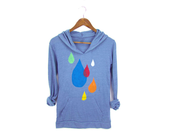 Raindrops Lightweight Hoodie by two string jane