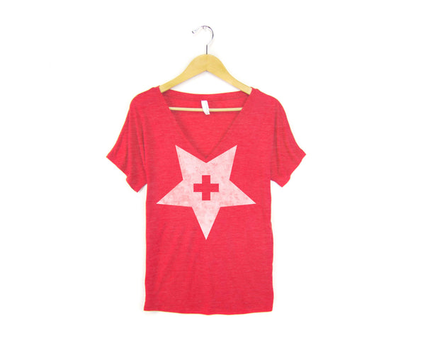 Texas Aid V-Neck T-Shirt