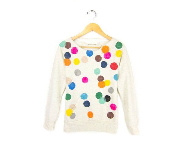 Colorful Confetti Scoop Neck Sweatshirt by two string jane