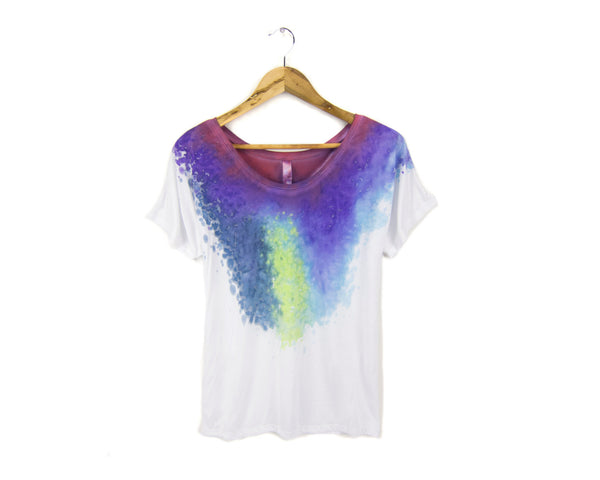 Berry Nebula Splash Dye T-Shirt by two string jane