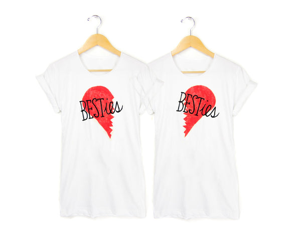 Besties Tees - Pair by two string jane