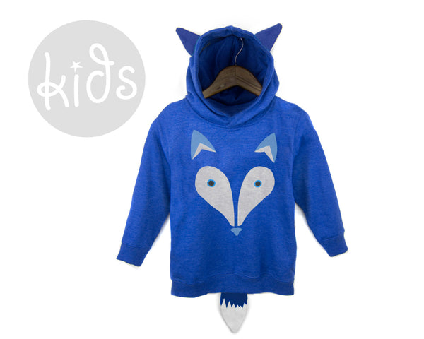 Geo Arctic Fox Youth Hoodie by two string jane