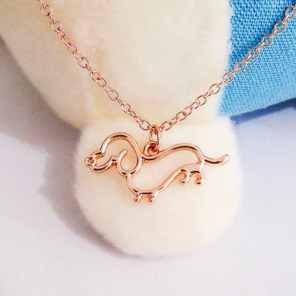 Dachshund Puppy Necklace
