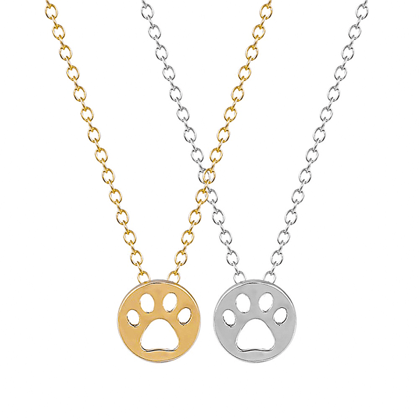 Round Paw Print Necklace