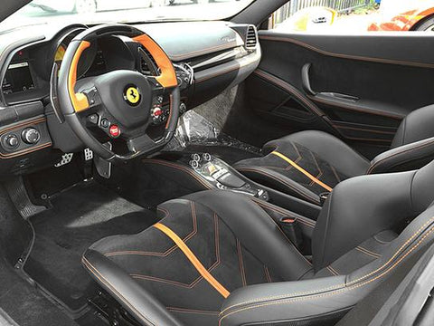 Ferrari 458 Carbon Fiber Steering Wheel Upgrade