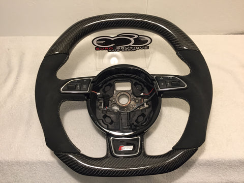 Audi RS5 Carbon Fiber Flat Bottom Steering Wheel