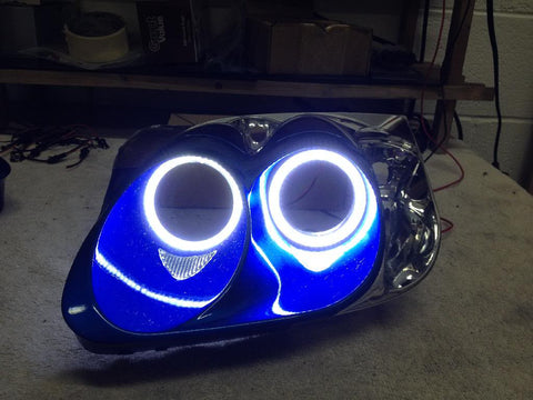 Custom LED Rings in Headlights (2002-2005 NSX)