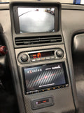 NSX 100% Carbon Fiber Double Din Center Dash Panel made from Scratch (1991-2005 NSX) Ashtray Delete