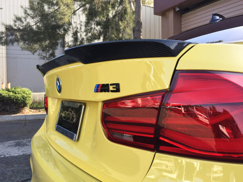 BMW KLASS Carbon BMW F80 M3 CF Trunk Lip Spoiler