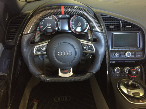 Audi R8 Carbon Fiber Extended Paddle Shifters (pair)