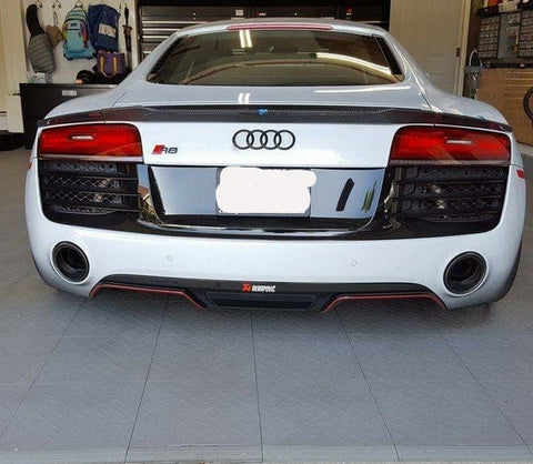 Audi R8 Carbon Fiber 3-Piece Trunk Lip Spoiler