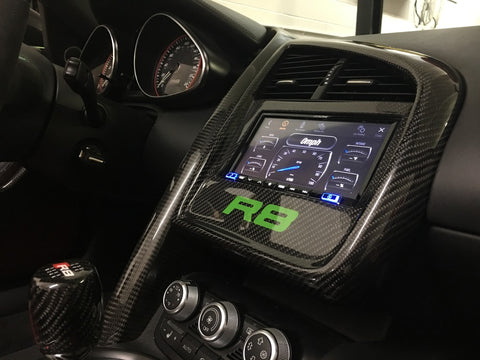 Audi R8 Carbon Fiber Double DIN Radio Custom Trim Bezel