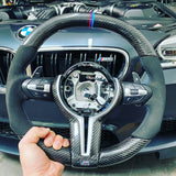 BMW Carbon Fiber Flat Bottom F10 M5 / M6 Steering Wheel