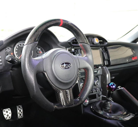 Subaru BR-Z and Scion FR-S Flat Bottom Carbon Fiber Steering Wheel
