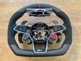 2017+ Gen2 Audi R8 Carbon Fiber OEM Flat Bottom Upgraded Premium Steering Wheel
